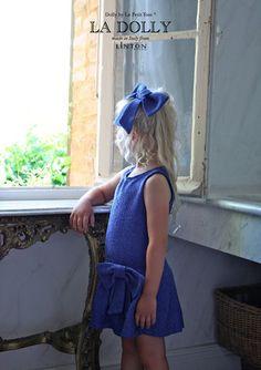 LA DOLLY the 'PRINCESS DRESS' from Linton Tweed® - royal blue