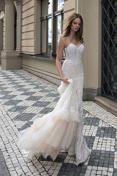 Such a beautiful Berta lace wedding dress from Berta Fall 2015 bridal collection.