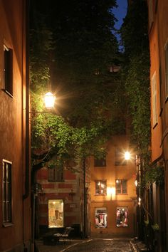 """Själagårdsgatan – a street in Stockholm's Old town that dates back to the 1300. It was named after a home for the elderly and ill, that was situated on the street and. The home was financed with donations-""""själagåvor"""", that woul grant the donor salvation. Photo by Ola Ericson"""