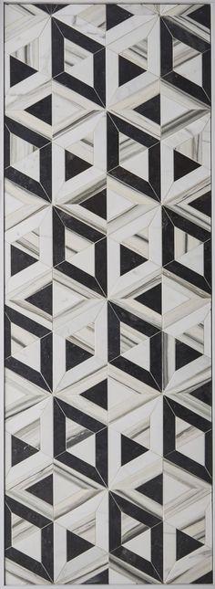 KELLY WEARSTLER X ANN SACKS. 'Liaison Doheny Small' stone patterned tiles