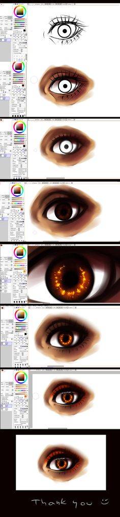 Paint tool SAI- EYE -tutorial by ryky on deviantART