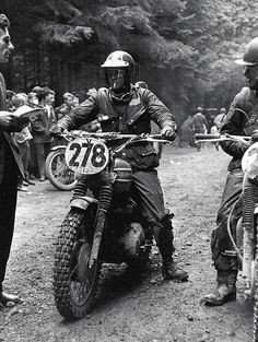 Mr. McQueen in competion on a 1964 Triumph Bonny