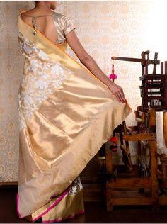 Tissue Cutwork Saree