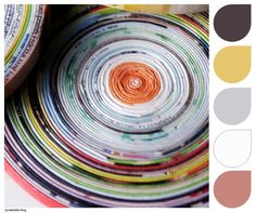 Inspiration... Page Round Coasters, photographed by Johnnie. Seen on Pinterest.