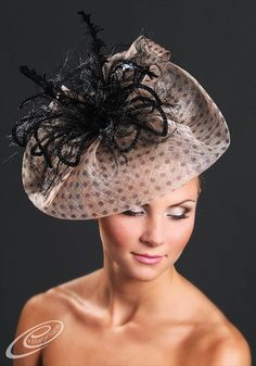Elegant couture fascinator hat for Ascot Derby by MargeIilane, $150.00