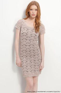 Чудесное платье! Описания нет, только схема, но, учитывая простоту модели, думаю сможете сориентироваться.   Схема отtata mtwиз Страны Мам  ©
