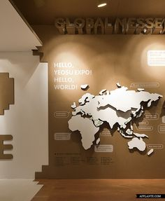Naver App-Square // Urbantainer |   This oversized shipment box is Urbantainer's visualization of globalism. The box is an interactive offline experienceproject for showcasing LINE, Naver's smart phone messenger app.