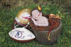 Newborn Session | Florida State | Seminoles |  Football » lilipopphotography.com