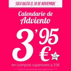¡Hazte con tu calendario de Adviento con Imaginarium por tan sólo 3,95€ solo hasta el 30 de noviembre!