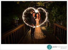 Jade Norwood Photography - playing with light in these beautiful wedding photos. That's the best heart I've seen made out of sparklers!   K1 Winery Wedding Photos | Adelaide Wedding Photographer