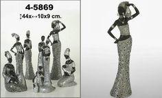 Figura Resina Africana Gift Shops, African, Resin