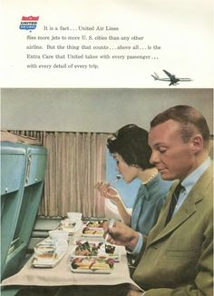 Looking at this old ad for United, the food didn't look much better back in the day. Although, at least they did give you food.