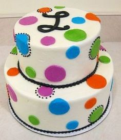 polka dot cakes for little girls - Google Search
