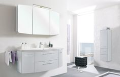 Pelipal Cassca Doppelwaschtisch ~ Keep your bathroom surfaces clutter free with plenty of storage
