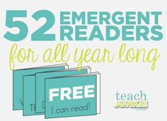 52 Emergent Readers for all year long