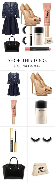 """It's His Birthday: Suho"" by scarletpeak ❤ liked on Polyvore featuring Casadei, Too Faced Cosmetics, MAC Cosmetics and Givenchy"