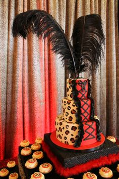 Leopard Burlesque Birthday Bash » Fearon May Events  www.sweetcakesbyrebecca.com