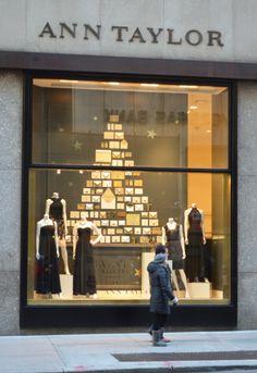ann taylor window display - Holiday 2013