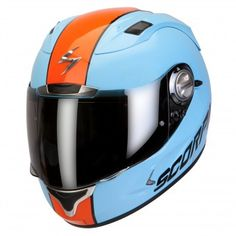 Casque Integral Scorpion EXO 1000 Air E11 Splitter Bleu Ciel Orange http://www.icasque.com/Casque-moto/Integral/EXO-1000-Air-E11-Splitter-Bleu-Ciel-Orange/