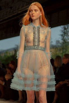 """Gucci SS16, Dazed Digital. The blue and the sheerness of it made me think of """"The Birth of Venus"""" for some reason."""