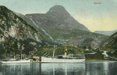 Møre og Romsdal fylke Stranda kommune Geiranger Merok. Ragnvald Jarl o.a. båt. Utg G.B tidlig 1900-tall