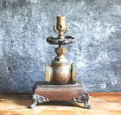 Industrial Steampunk Repurposed Lamp Hand Made Hardware by jalopee, $68.00