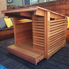 It's time to build your own dog house with your little crafting skills. We are proudly presenting dog living styles-stylish diy wood pallet dog house projects. Pallet Dog House, Build A Dog House, Dog House Plans, House Dog, Luxury Dog House, Dog Furniture, Custom Furniture, Cool Dog Houses, Living Styles