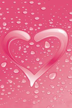 Pink Heart iPhone wallpaper | iPhone Wallpaper Blog