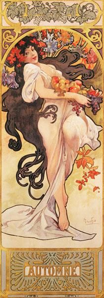 Alphonse Mucha - The Seasons: Autumn