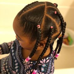 Hayven (and her Mom) ( Toddler Braided Hairstyles, Toddler Braids, Black Kids Hairstyles, Cute Little Girl Hairstyles, Quick Braided Hairstyles, Girls Natural Hairstyles, Baby Girl Hairstyles, Bob Hairstyles, Baddie Hairstyles