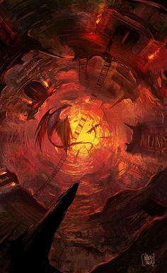 hell look down concept art - Google Search