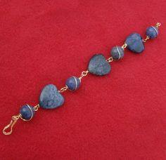 Lapis Lazuli Bracelet  Wonderful Rich Blue by JewelryArtistry