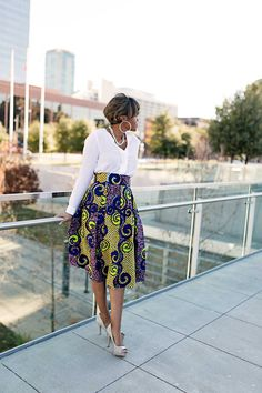 DIY Box Pleated Ankara Skirt