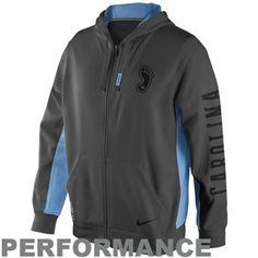 e5a3192befeda5 Nike North Carolina Tar Heels (UNC) KO Performance Full Zip Hoodie -  Anthracite