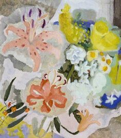 Ivon Hitchins(British, 1893-1979), Flowers