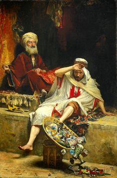 Alnaschar's Fortune, Arabian Nights (1879) by - William Ewart Lockhart