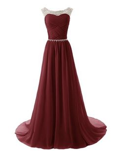 Dressystar Beaded Straps Bridesmaid Prom Dresses with Sparkling Embellished Waist