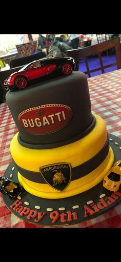 Lamborghini Cake, Ferrari Cake, Bugatti, Maserati, Cars Birthday Parties, Car Birthday, Princess Birthday, Cars Cake Design, Car Cakes For Boys