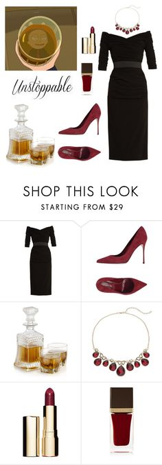 """""""President Morty inspired"""" by sschan ❤ liked on Polyvore featuring Dolce&Gabbana, Sergio Rossi, Napier, Clarins and Tom Ford"""