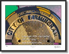 BIRMINGHAM MI manhole cover photo art print