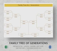 Family Tree Excel and How to Make It Excel dominates spreadsheet software in the world. You can do many things with this software. Family Reunion Games, Family Games, Family Reunions, Youth Group Activities, Youth Groups, Group Games, Blank Family Tree Template, Memorial Day Quotes, Pedigree Chart