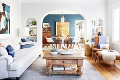PILLOWS by #JillianReneDecor as seen: This Is How Emily Henderson's Creative Director Styles a Living Room via @mydomaine