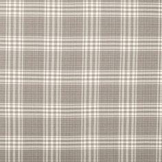 Pearl Gray Bernegat Plaid Home Decor Fabric