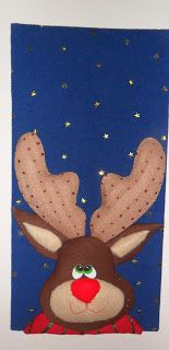 MARDEDI: CUADROS NAVIDEÑOS Ideas Para, Reindeer, Mousse, Decoupage, Holiday, Christmas, Quilts, Pattern, Crafts