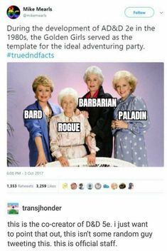 Dnd Funny, Stupid Funny, Funny Cute, Hilarious, Tumblr Funny, Funny Memes, Jokes, Dungeons And Dragons Memes, Funny Posts