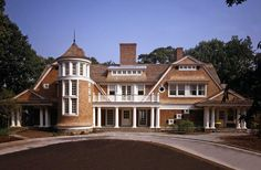 Beautiful architectural details, such as curved roof lines and gables with small 9 pane windows.