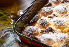 Sütőben sült túrógombóc Mashed Potatoes, French Toast, Food And Drink, Pudding, Bread, Baking, Breakfast, Cake, Ethnic Recipes