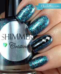 "Shimmer Polish - ""Christina"" Swatch"