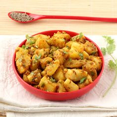 This Jeera Aloo recipe with step by step photos is probably the simplest yet prepares delectable sabzi that will placate your palate and taste buds. Learn how to make jeera aloo at home in just few minutes with this simple and easy vegetable curry recipe. Undhiyu Recipes, Aloo Recipes, Spicy Recipes, Curry Recipes, Vegan Recipes Easy, Indian Food Recipes, Vegetarian Recipes, Dinner Recipes, Ethnic Recipes