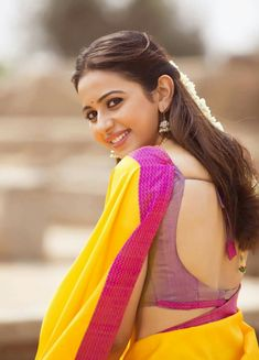 69e932a2ab29b Nice backless for Rakul Preet in Saree😍 Stylish Girl Images